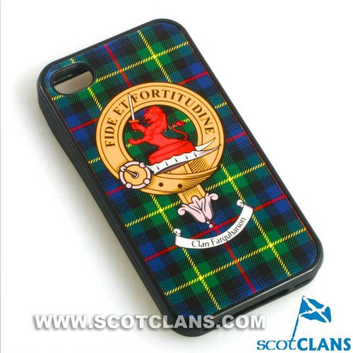 Farquharson Tartan and Clan Crest iPhone Rubber Case - 4 - 7