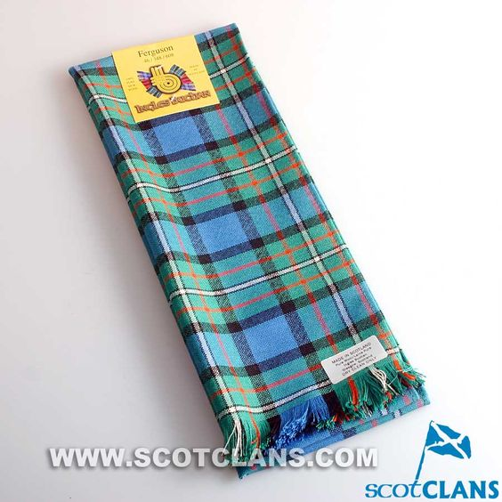 Wool Scarf in Ferguson Ancient Tartan