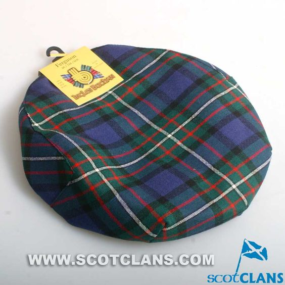 Pure Wool Golf Cap in Ferguson Tartan