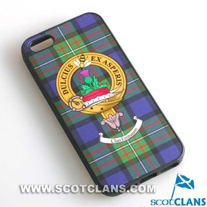 Fergusson Tartan and Clan Crest iPhone Rubber Case - 4 - 7
