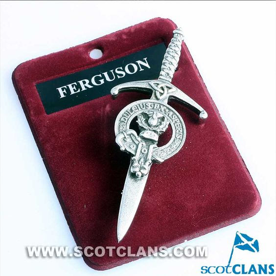 Clan Crest Pewter Kilt Pin with Ferguson Crest