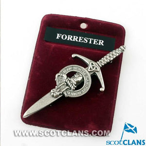 Clan Crest Pewter Kilt Pin with Forbes Crest