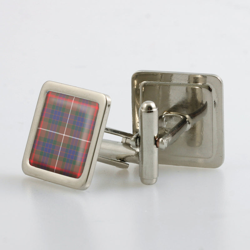 Fraser Hunting Modern Tartan Cufflinks - Choose Your Shape.
