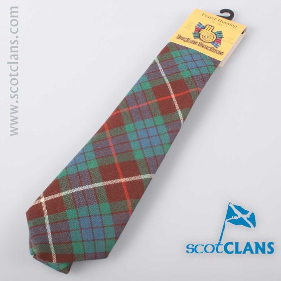 Pure Wool Tie in Fraser Hunting Ancient Tartan
