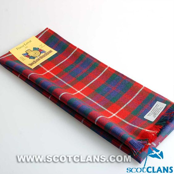 Wool Scarf in Fraser of Lovat Modern Tartan