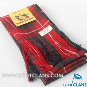 Wool Tartan Full Length Sash in Fraser of Lovat Modern Tartan