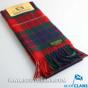 Lambswool Scarf in Fraser Red Tartan