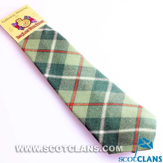 Pure Wool Tie in Galloway Hunting Tartan
