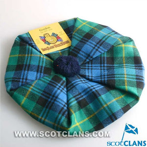 Unisex Wool Tam in Gordon Ancient Tartan