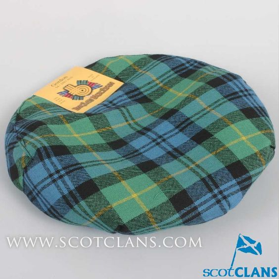 Pure Wool Golf Cap in Gordon Ancient Tartan