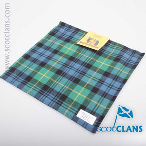 Wool Tartan Pocket Square in Gordon Ancient Tartan