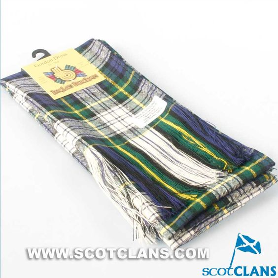 Wool Tartan Full Length Sash in Gordon Dress Tartan