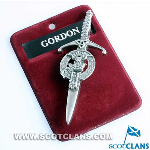 Clan Crest Pewter Kilt Pin with Gordon Crest