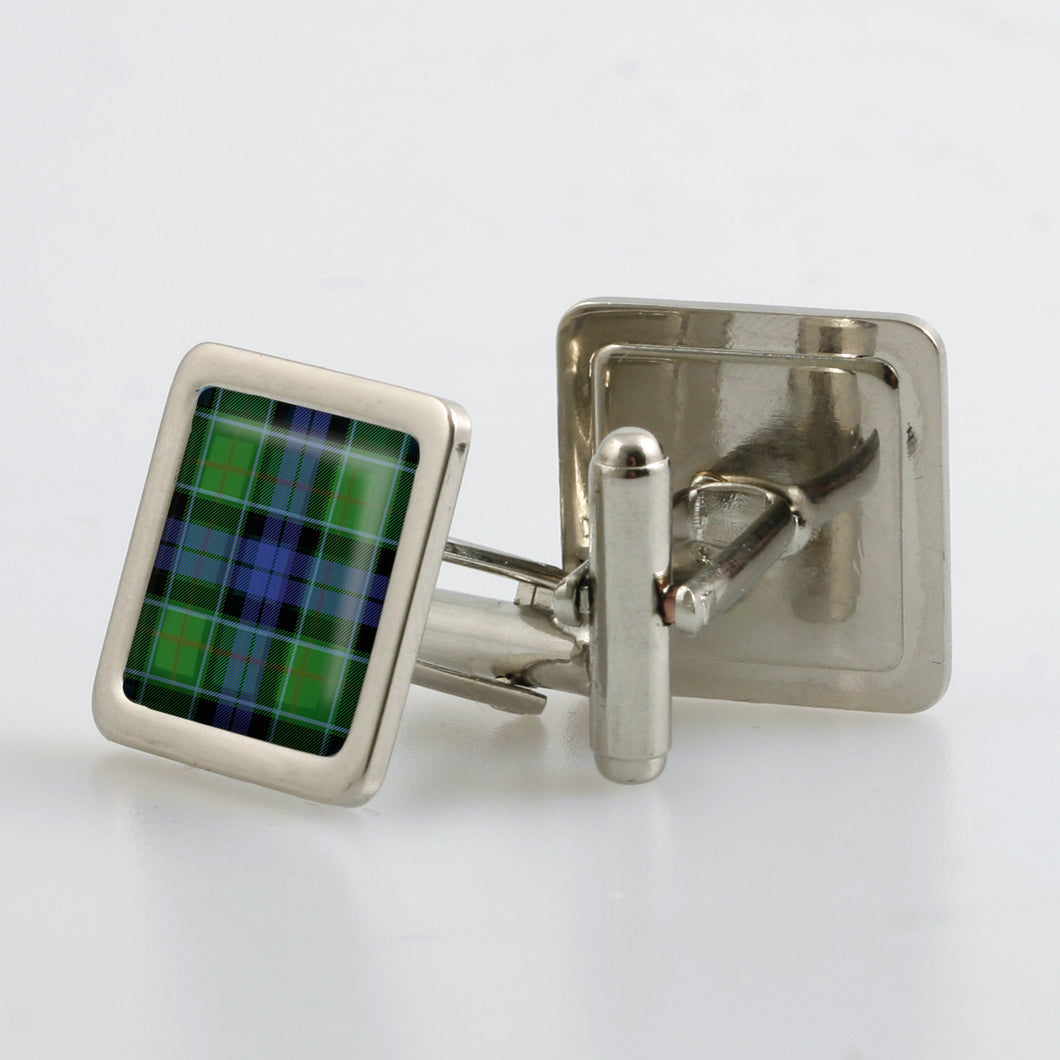 Graham of Mentieth Modern Tartan Cufflinks - Choose Your Shape.