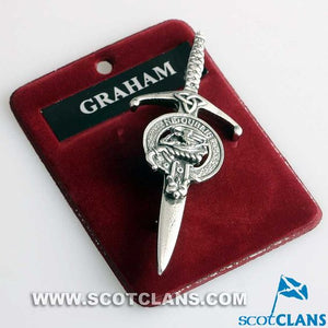 Clan Crest Pewter Kilt Pin with Graham Crest