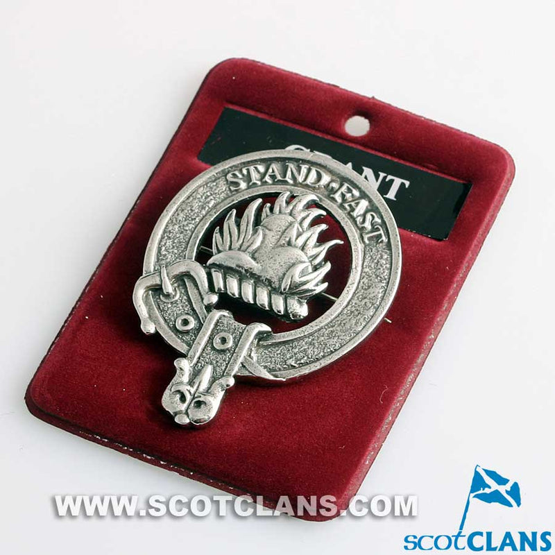 Grant Clan Crest Badge in Pewter