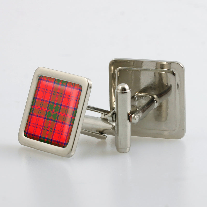 Grant Modern Tartan Cufflinks - Choose Your Shape.