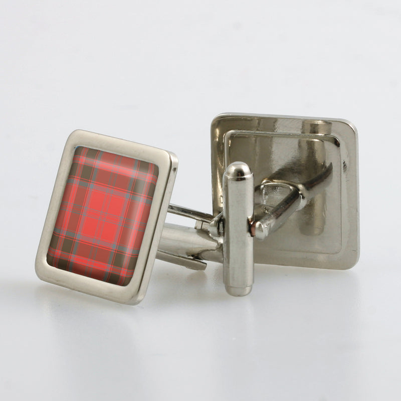 Grant Weathered Tartan Cufflinks - Choose Your Shape