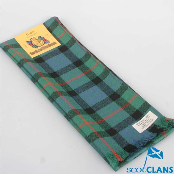 Wool Scarf in Gunn Ancient Tartan
