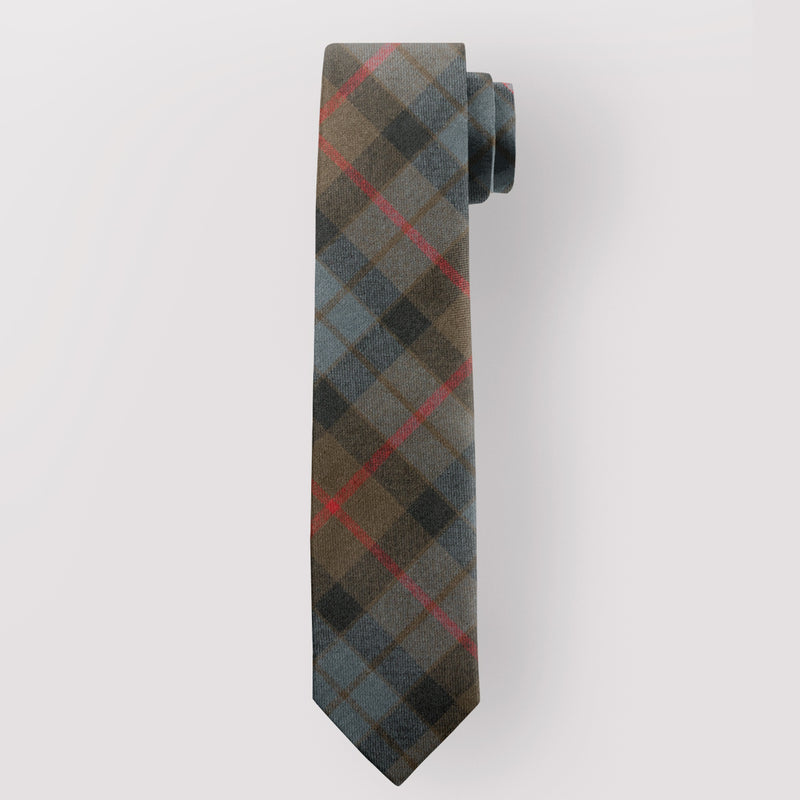Pure Wool Tie in Gunn Weathered Tartan.
