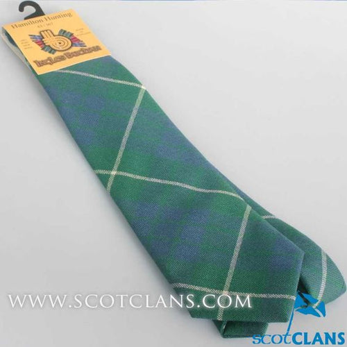Pure Wool Tie in Hamilton Hunting Ancient Tartan