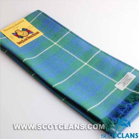 Wool Scarf in Hamilton Hunting Ancient Tartan