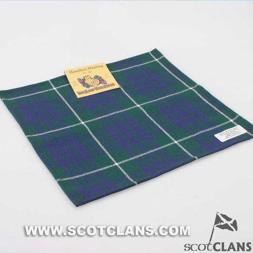 Wool Tartan Pocket Square in Hamilton Hunting Modern Tartan