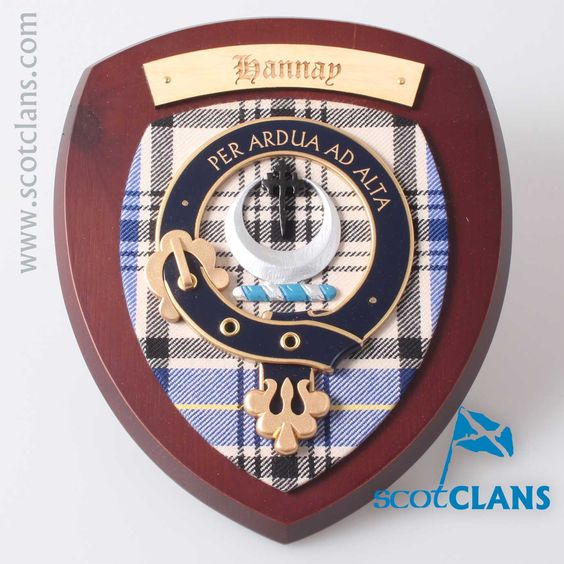 Hannay Clan Crest Plaque