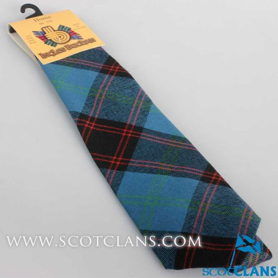 Pure Wool Tie in Home Ancient Tartan