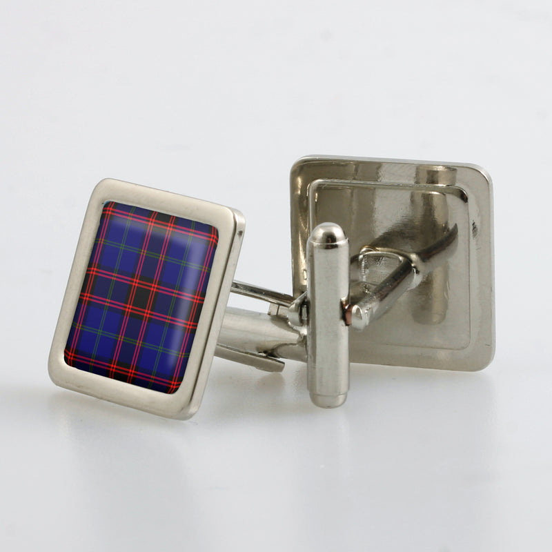 Home / Hume Modern Tartan Cufflinks - Choose Your Shape.
