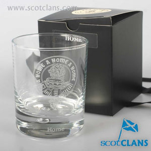 Clan Crest Whisky Glass with Home Crest