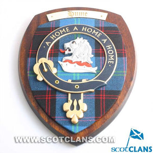 Hume Clan Crest Plaque