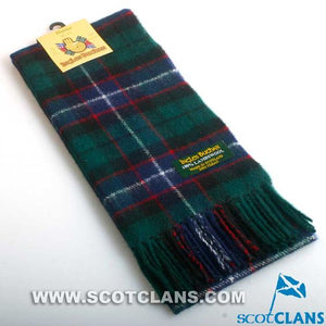 Lambswool Scarf in Hunter Modern Tartan