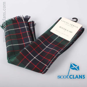 Luxury Lightweight Scarf in Hunter Modern Tartan