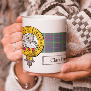 Inglis Clan Crest and Tartan Mug