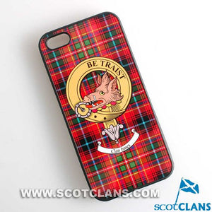 Innes Tartan and Clan Crest iPhone Rubber Case - 4 - 7