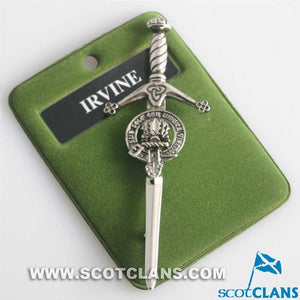 Clan Crest Pewter Kilt Pin with Irvine Crest