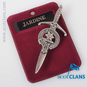Clan Crest Pewter Kilt Pin with Jardine Crest