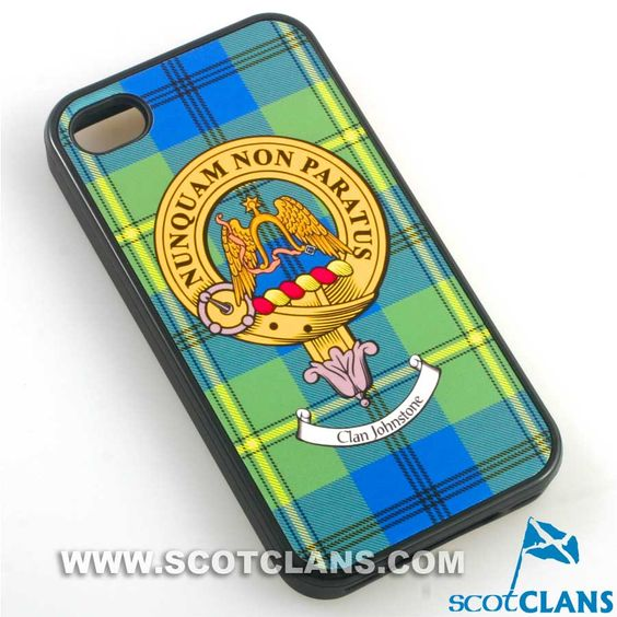 Johnstone Tartan and Clan Crest iPhone Rubber Case - 4 - 7