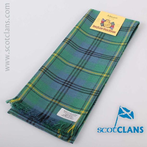Wool Scarf in Johnstone Ancient Tartan