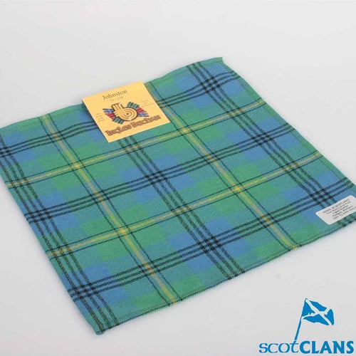 Wool Tartan Pocket Square in Johnstone Ancient Tartan