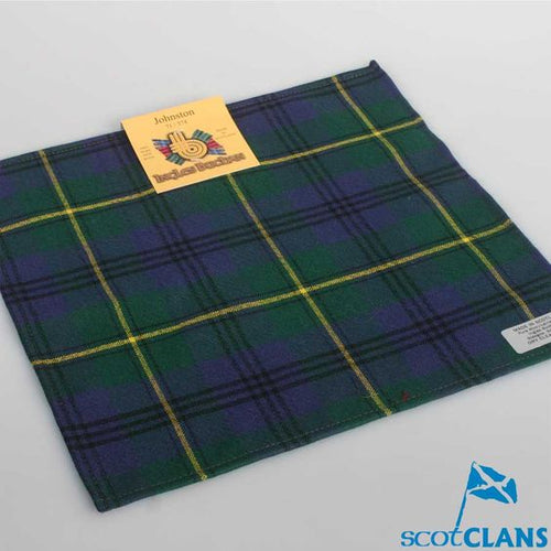 Wool Tartan Pocket Square in Johnstone Modern Tartan