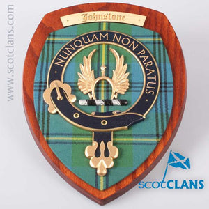 Johnstone Clan Crest Plaque