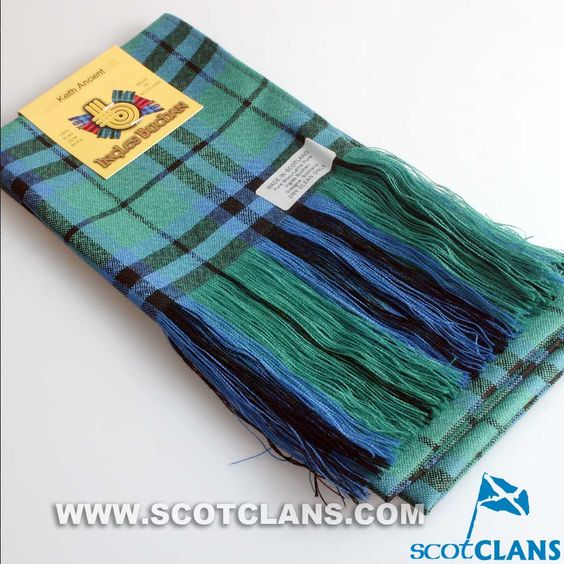 Wool Tartan Full Length Sash in Keith Ancient Tartan