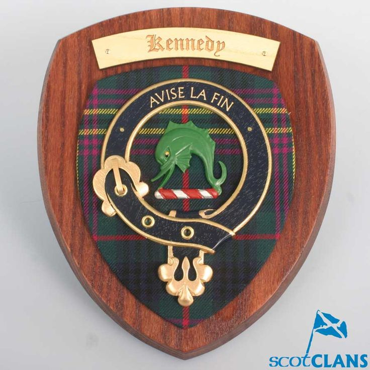 Kennedy Clan Crest Plaque