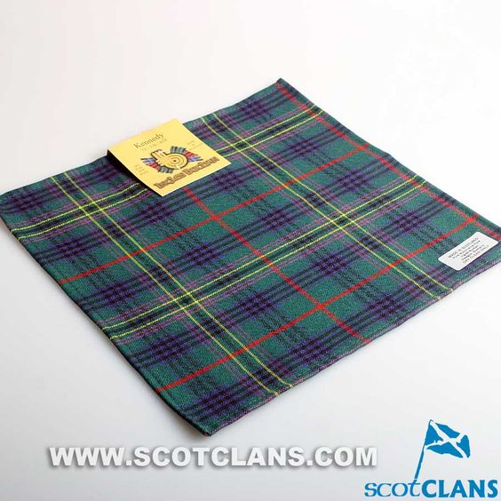 Wool Tartan Pocket Square in Kennedy Modern Tartan