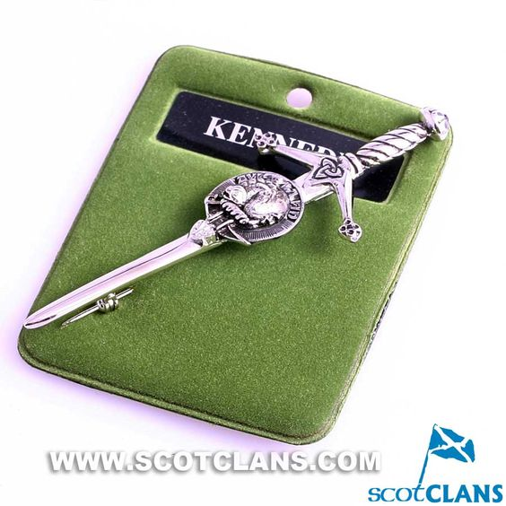 Clan Crest Pewter Kilt Pin with Kennedy Crest