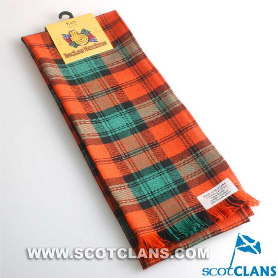 Wool Scarf in Kerr Ancient Tartan
