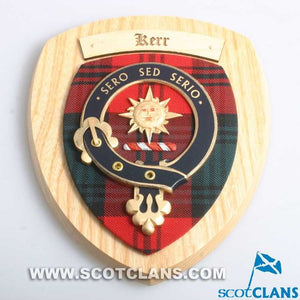 Kerr Clan Crest Plaque
