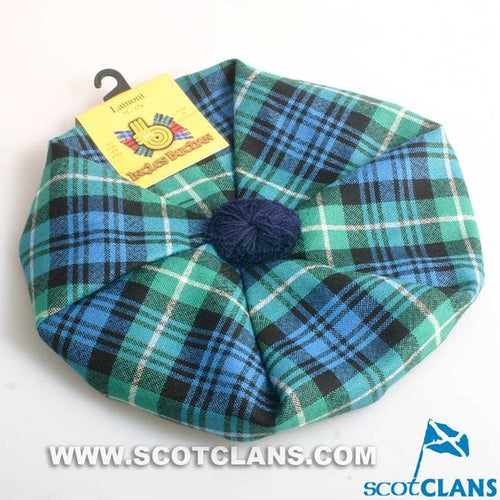 Unisex Wool Tam in Lamont Ancient Tartan